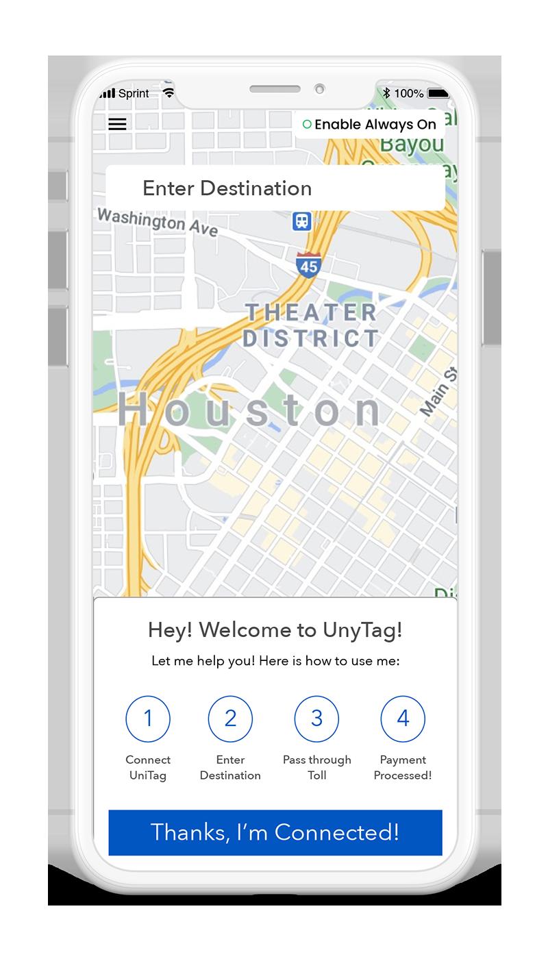Unytag App Home